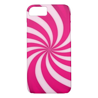 Spiral Pink Candy Cane iPhone 7 Case