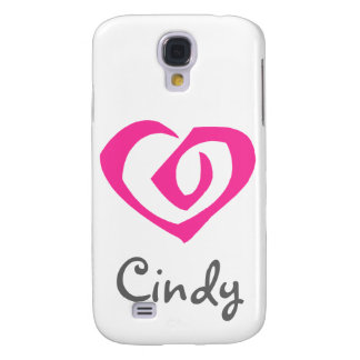 Spiral Pink Heart Love Hearts Samsung Galaxy S4 Covers