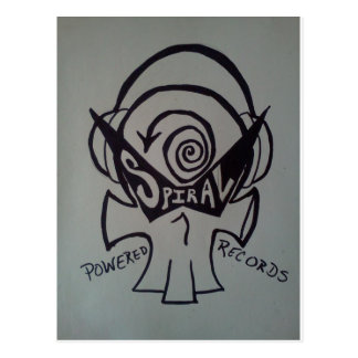 Spiral Powered Records Merchandise Postcard