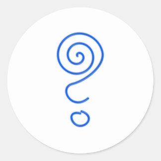 Spiral question mark spiral question mark classic round sticker