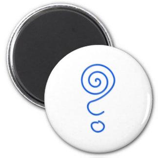 Spiral question mark spiral question mark magnet