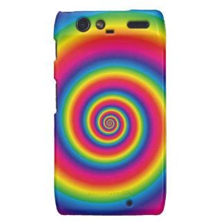 Spiral Rainbow Motorola Droid RAZR Covers