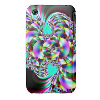 Spiral Rainbow Fractal Case-Mate iPhone 3 Case