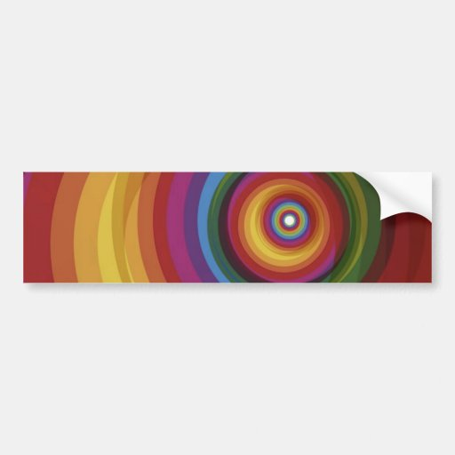 Spiral Rainbow Vector Background Bumper Stickers