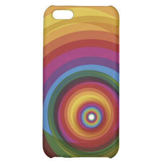 Spiral Rainbow Vector Background Case For iPhone 5C