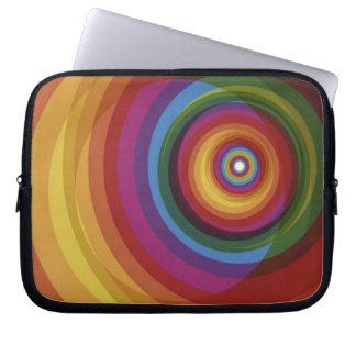 Spiral Rainbow Vector Background Laptop Computer Sleeves