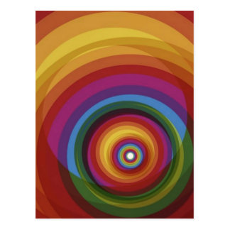 Spiral Rainbow Vector Background Postcard