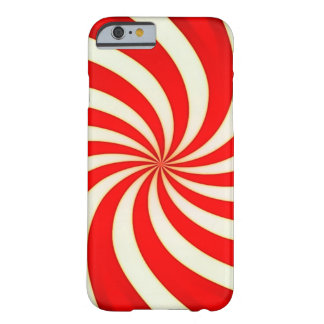 Spiral Red Classic Candy Cane Barely There iPhone 6 Case