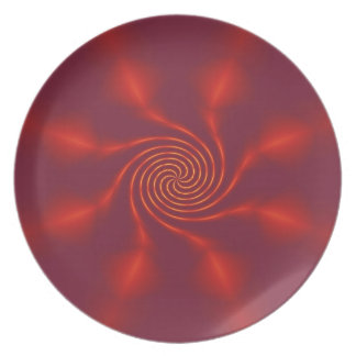 Spiral Red Plate
