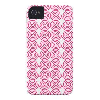 Spiral Rings Art Design Creative Elegant Rounds Ci iPhone 4 Case