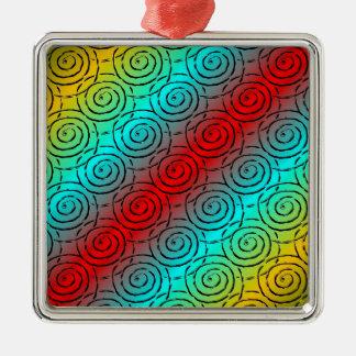Spiral Ripple Metal Ornament