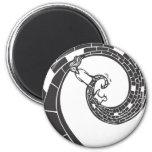 Spiral Road 2 Inch Round Magnet