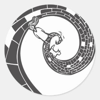 Spiral Road Classic Round Sticker