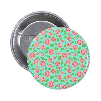 Spiral Rosebud Pinback Button