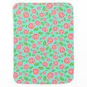 Spiral Rosebud Stroller Blankets