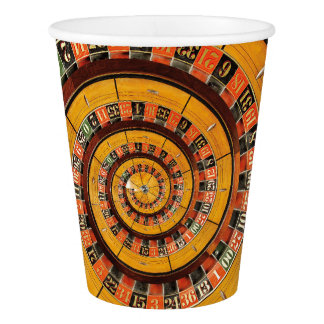 Spiral Roulette Wheel Droste Paper Cups