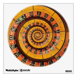 Spiral Roulette Wheel Droste Wall Decal