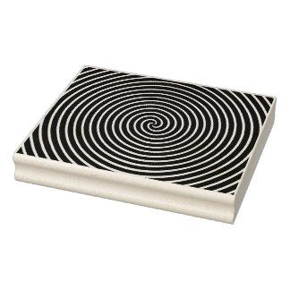 Spiral Rubber Art Stamp