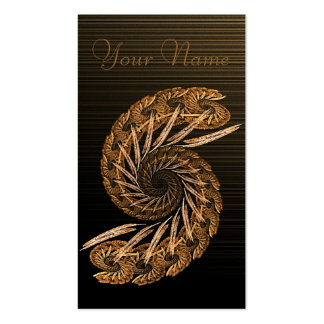 Spiral Rust Fractal Double-Sided Standard Business Cards (Pack Of 100)