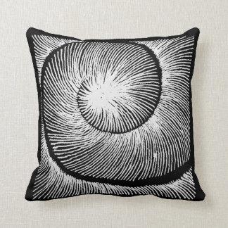 Spiral Schneckenhaus LINEs blackandwhite Throw Pillow