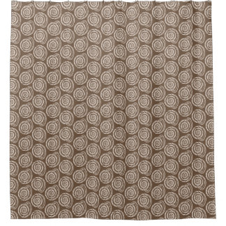 Brown And Taupe Shower Curtains Zazzle