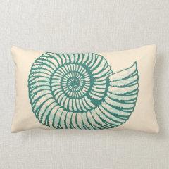 Spiral Seashell Throw Pillows
