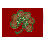 Spiral Shamrock Christmas Card