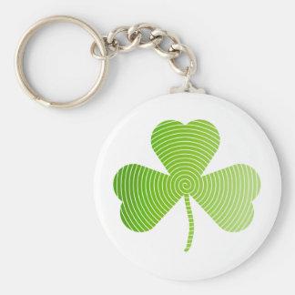 Spiral shamrock keychains