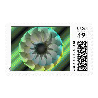 Spiral Shark Postage Stamps