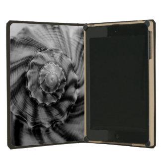 Spiral Shell, Black and White, iPad Mini Retina Case