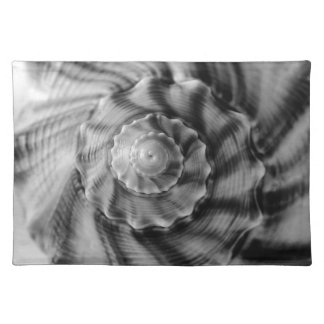 Spiral Shell, Black and White Placemat