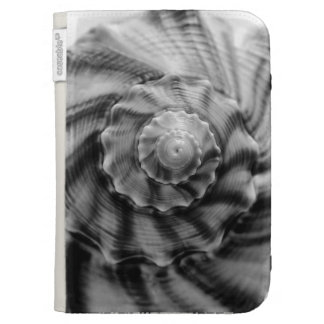 Spiral Shell, black & white, Kindle 3G Covers