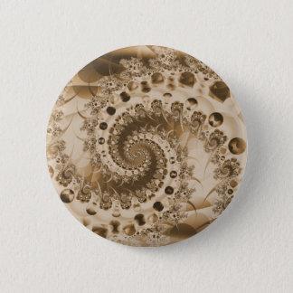 Spiral Shell Fractal Button