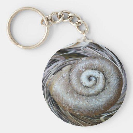 Spiral Shell Keychain