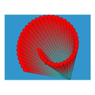 spiral-shell postcard