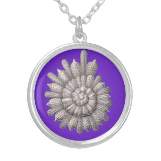 Spiral shell silver plated necklace