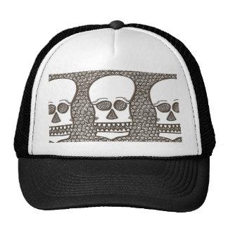 Spiral skull trio trucker hat