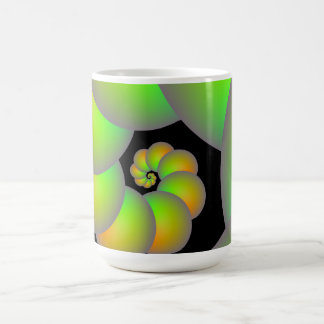 Spiral Spheres in Green and Yellow  Mug
