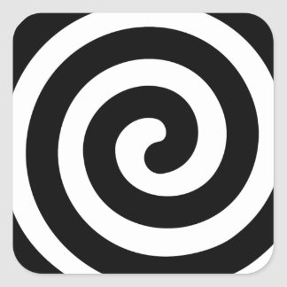 Spiral Square Sticker