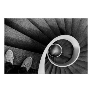 Spiral staircase 03B Poster