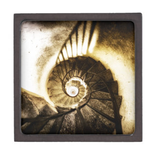 Spiral staircase gift box