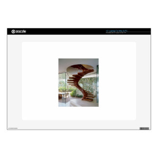 """SPIRAL STAIRCASE : House Interior Woodwork GIFTS 15"""" Laptop Skins"""