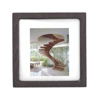 SPIRAL STAIRCASE : House Interior Woodwork GIFTS Keepsake Box
