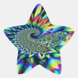 Spiral Stars Fractal Sticker