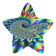 Spiral Stars Fractal Sticker Star Sticker