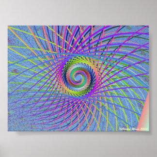 Spiral Sticks Print