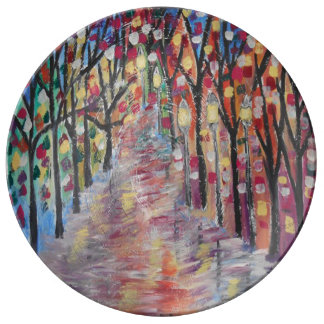 Spiral Street Porcelain Plate