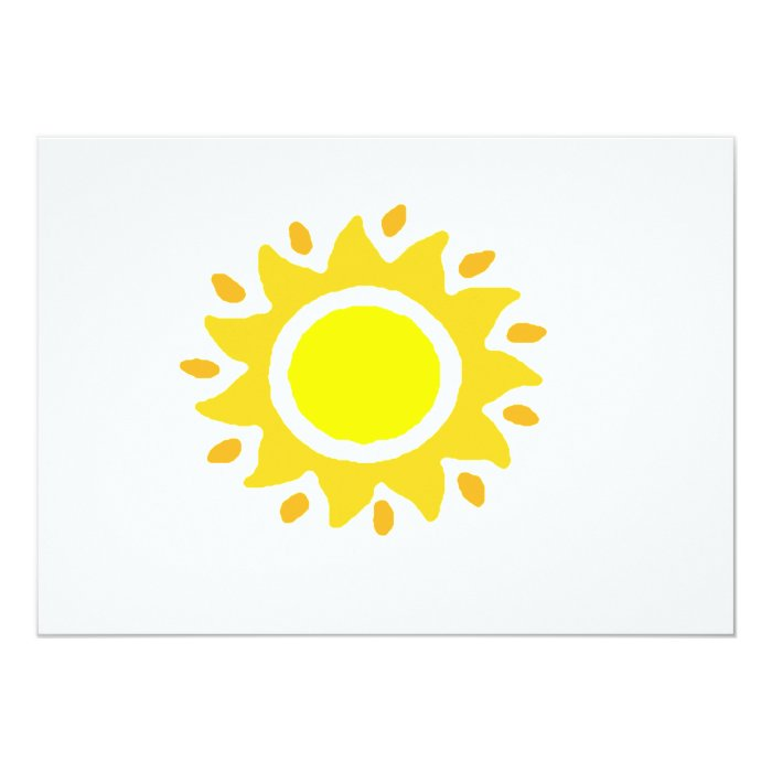Spiral Sun Invitation