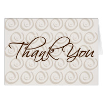 thank you, thanks, card, greeting, cards, note, spiral, design, pattern, neutral, brown, art, Card with custom graphic design
