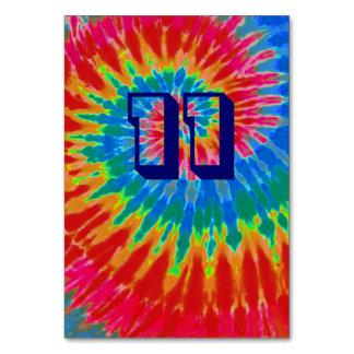 Spiral Tie Dye Wedding Table Eleven Card